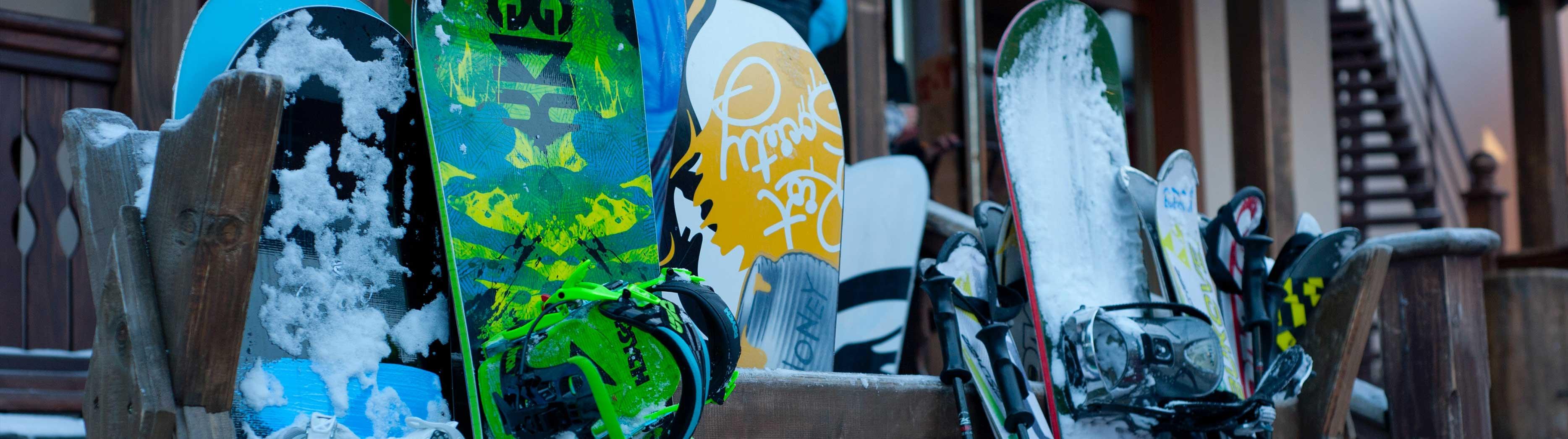 Snowboard en ski's